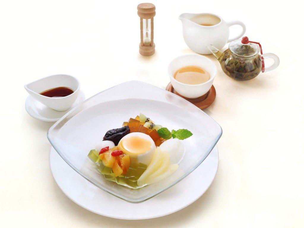 茶語(Cha Yū) CHINA TEA HOUSE 大丸札幌店の『ティーロードキャラメルのパンナコッタとマテ茶のデザート』