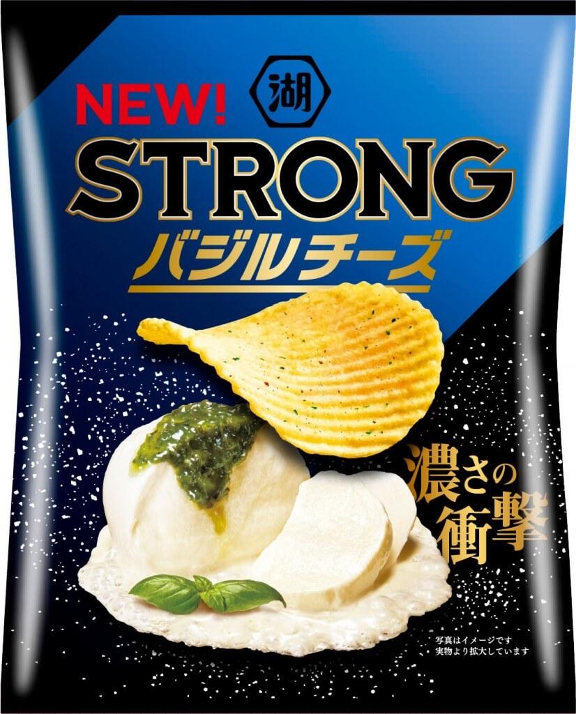『湖池屋STRONG ポテトチップス バジルチーズ』