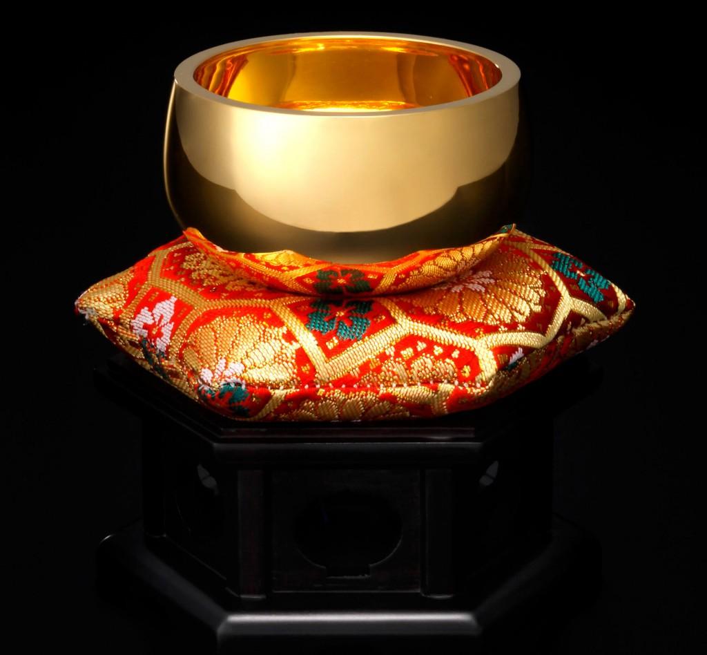 大丸の大黄金展の『K18おりん 2.5寸』