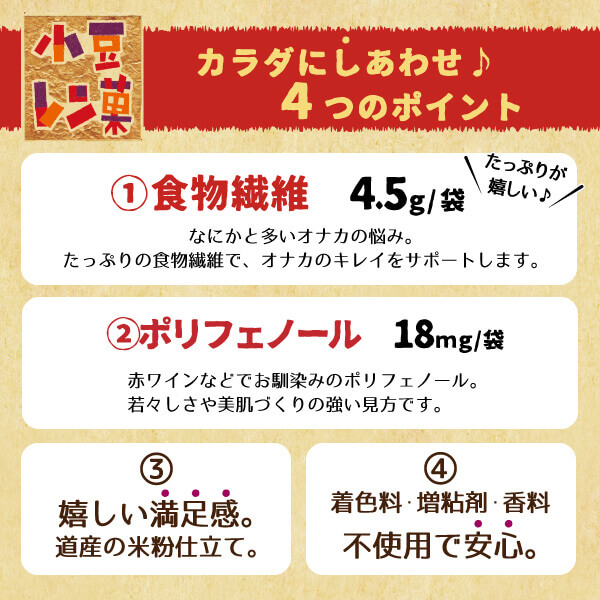 柳月の『小豆レン菓(ガ)』-カラダにしあわせ4つのポイント