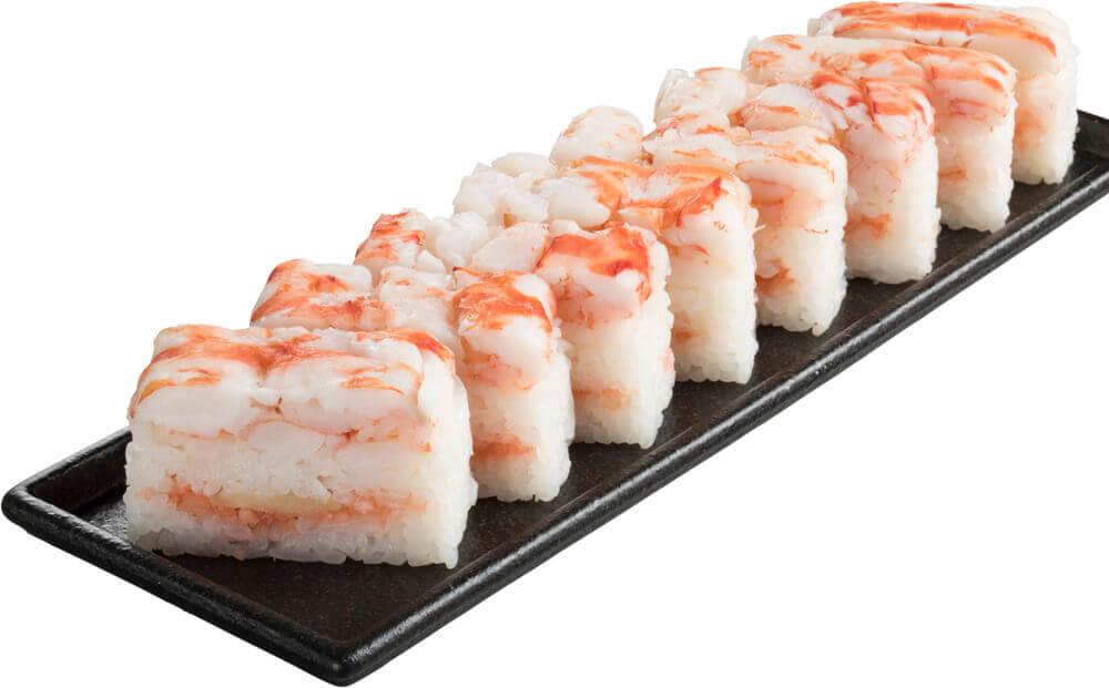 スシローの『天然車海老の押し寿司』