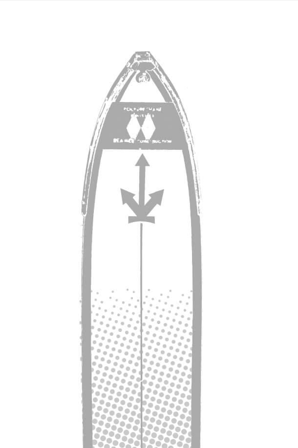DESCENTE(デサント)の『店舗限定アイテム』-スキー板の先端についた 矢印3本のマーク