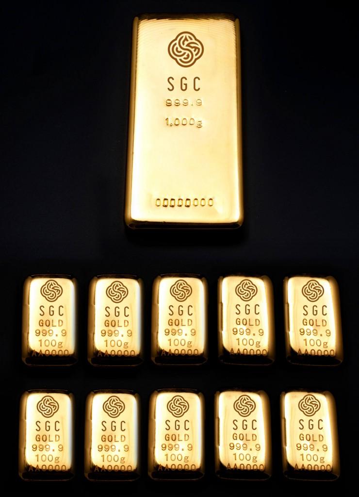 大丸の大黄金展の『インゴット加工』