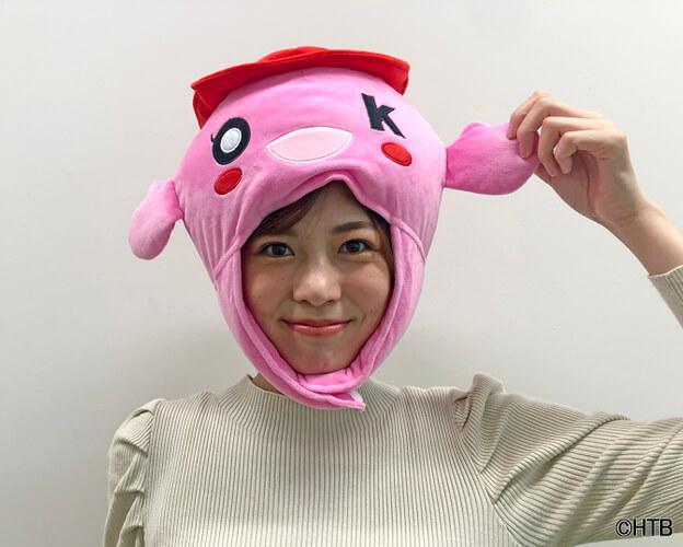 okちゃん DX CAP_田口彩夏アナ(C)HTB