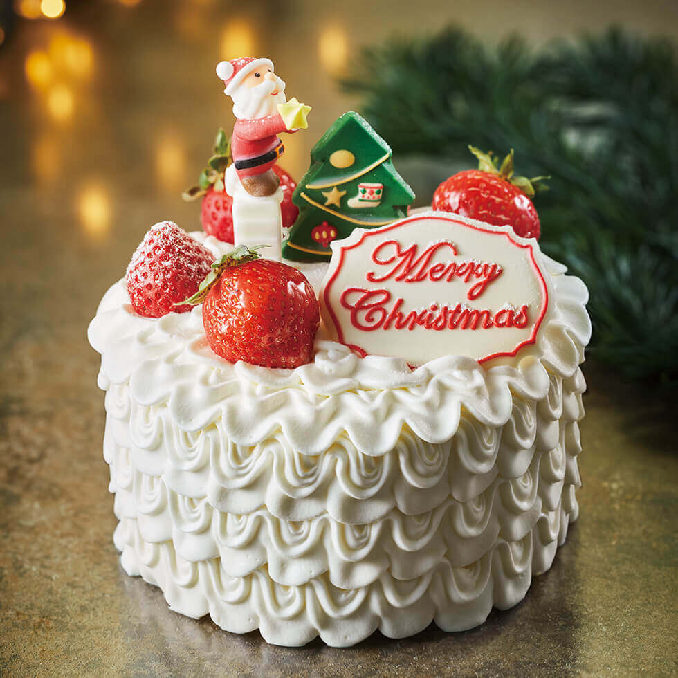 アニバーサリーのクリスマスケーキ2021『ハッピーホワイトクリスマス』