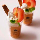 南10西3にある札幌パークホテルにて人気商品「ダブルチーズケーキ」のソフトクリームに2種のりんごを使った『アップルチーズパフェ』が販売中!