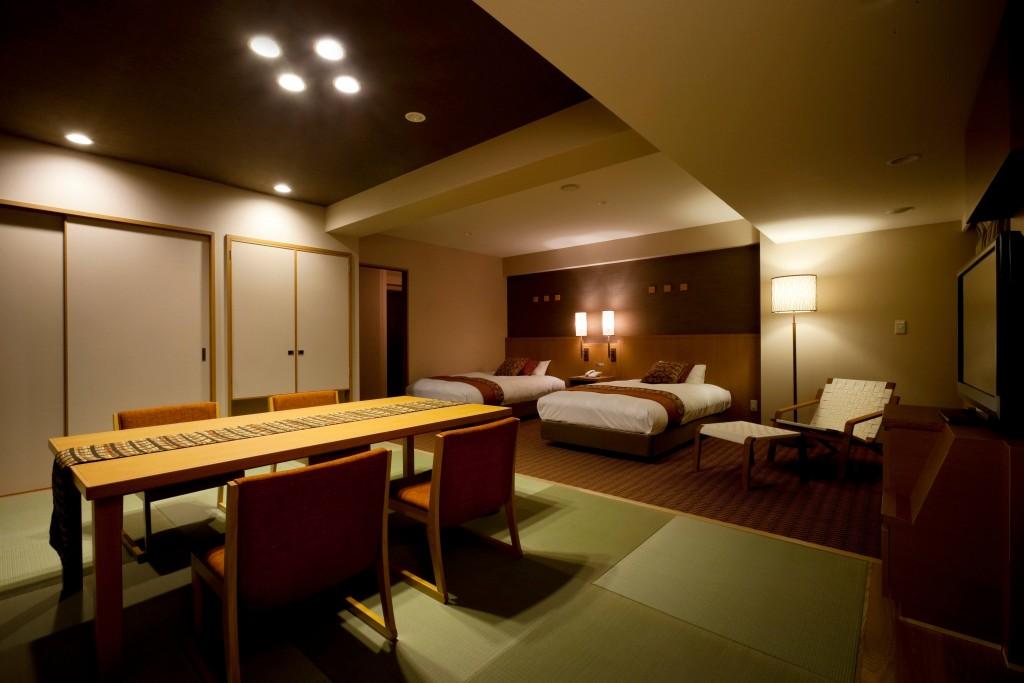 ホテルゆもと登別の客室