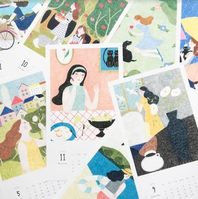 手紙舎雑貨店の『アートなカレンダー特集』