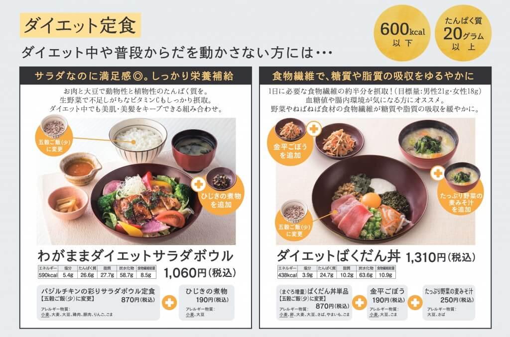 大戸屋×東急スポーツオアシス-コラボメニュー『ダイエット定食』