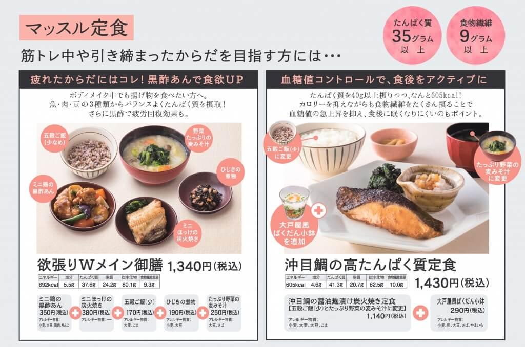 大戸屋×東急スポーツオアシス-コラボメニュー『マッスル定食』